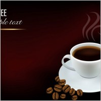 Link to03 element vector background beautiful coffee