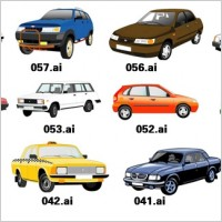 Link to1 exquisite variety of cars vector