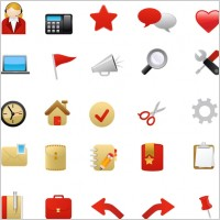 Link to1 red theme icon vector