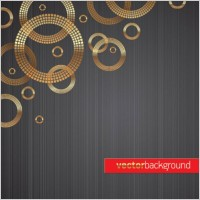 Link to1 round gold background vector