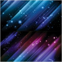 Link to1 star universe background vector