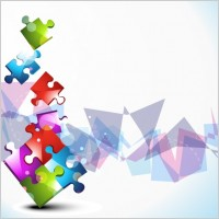 Link to1 vector colorful mosaic background