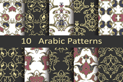 Link to10 arab seamless background pattern vector
