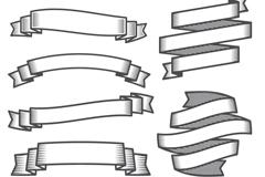 Link to10 black ribbon design vector