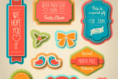 Link to10 children's christmas paper tag vector