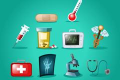 10 classy medical icon vector
