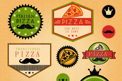 Link to10 colour pizza tag vector