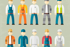 Link to10 construction workers designed vector