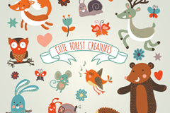 Link to10 cute jungle animals vector