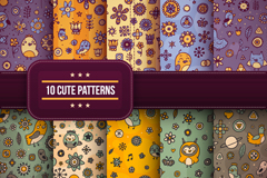 Link to10 cute style flower background vector