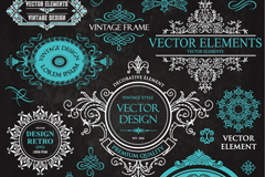 Link to10 fine patterned borders tag vector