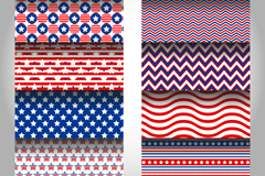 Link to10 five-star striped background vector