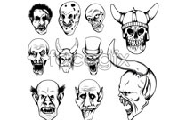 Link to10 horror head vector