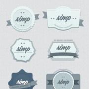 Link to10 kind retor badges psd