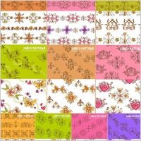 Link to10 lovely handpainted pattern vector