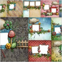 Link to10 lovely mushroom collage style photo frame