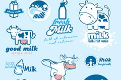 Link to10 milk label logo vector