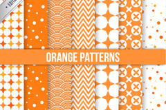 Link to10 orange seamless vector background