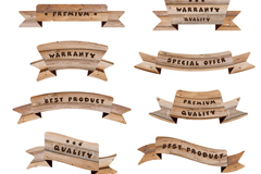 Link to10 quality promotional wood ribbons vector diagrams