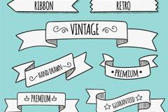 Link to10 retro ribbon banner vector
