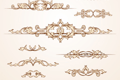 Link to10 retro-style pattern design vector