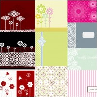 Link to10 simple cute pattern vector