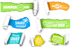 Link to10 summer paper banner vector
