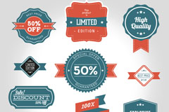 Link to10 vintage discount tag vector