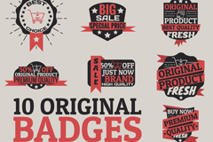 Link to10 vintage promotional tag vector