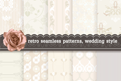 Link to10 vintage style wedding background pattern vector