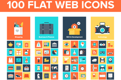 Link to100 flat page icon vector