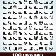 Link to100 kind shoes vector icons free