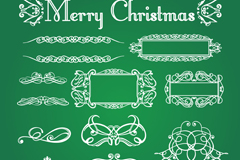 Link to11 christmas lace design vector
