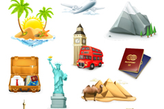 Link to11 exquisite tourism icon vector