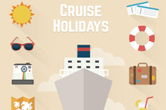 Link to11 holiday cruise tour icon vector