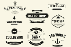 Link to11 practical shop tag vector
