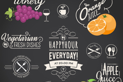 Link to11-restaurant drinks tag vector