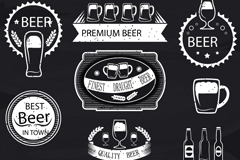 Link to11 white beer label design vector