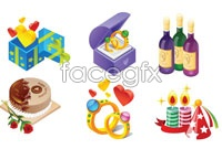 Link to12 beautiful holiday gift vector icons