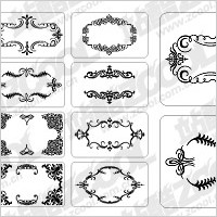 Link to12 cards with exquisite lace elements of material