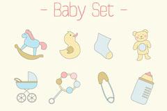 Link to12 cartoon baby icon vector