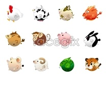 Link to12 chinese zodiac series icons