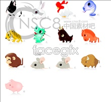 Link to12 chinese zodiac signs icons