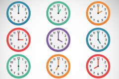 Link to12 color clock design vector
