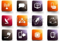 Link to12 crystal texture icon vector