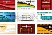 Link to12 current style business card template vector map