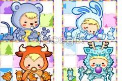 Link to12 cute cartoon animals vector