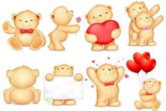 Link to12 cute teddy bear icon vector
