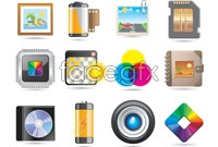 Link to12 electronic digital vector icons