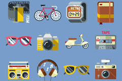 Link to12 flat casual entertainment icon vector